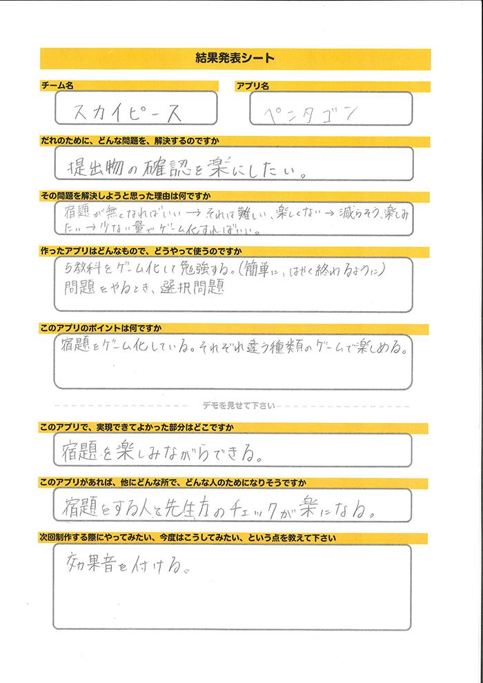 スカイピース_発表シート