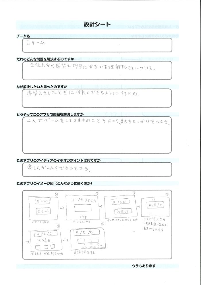 Cチーム_設計シート